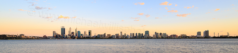 Perth and the Swan River at Sunrise, 31st December 2015