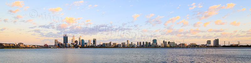 Perth and the Swan River at Sunrise, 1st January 2016