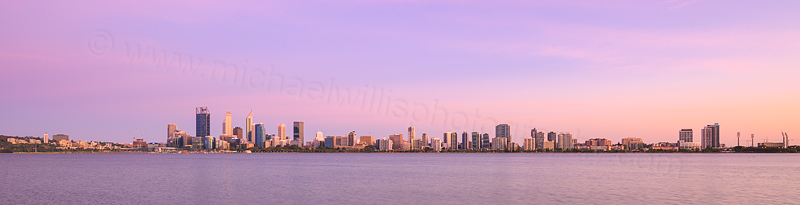 Perth and the Swan River at Sunrise, 3rd January 2016