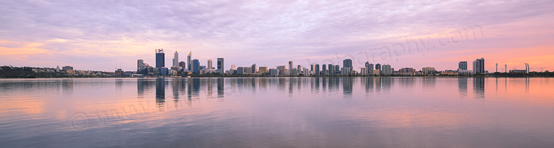 Perth and the Swan River at Sunrise, 4th January 2016