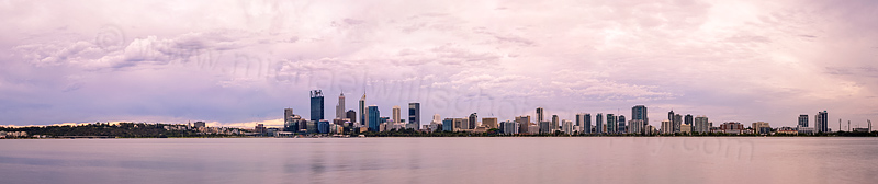 Perth and the Swan River at Sunrise, 8th January 2016