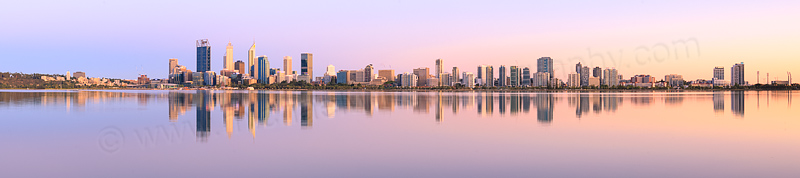 Perth and the Swan River at Sunrise, 9th January 2016