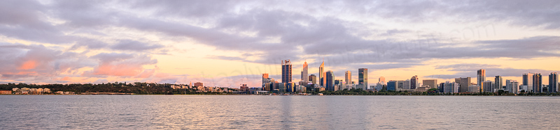 Perth and the Swan River at Sunrise, 12th January 2016