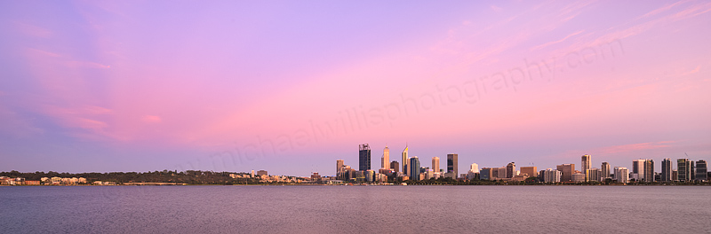 Perth and the Swan River at Sunrise, 13th January 2016