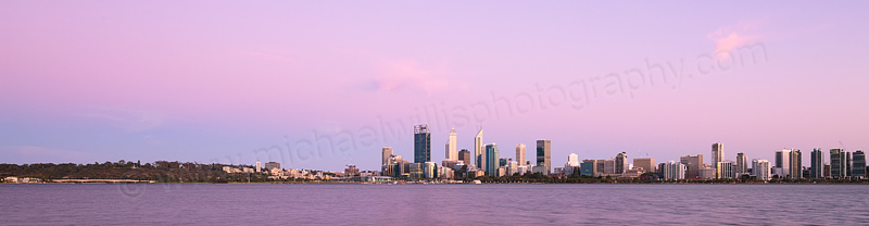 Perth and the Swan River at Sunrise, 14th January 2016