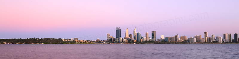 Perth and the Swan River at Sunrise, 15th January 2016