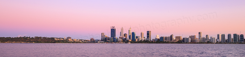 Perth and the Swan River at Sunrise, 19th January 2016