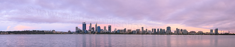 Perth and the Swan River at Sunrise, 20th January 2016