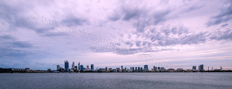 Perth and the Swan River at Sunrise, 27th January 2016