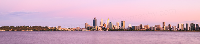 Perth and the Swan River at Sunrise, 28th January 2016