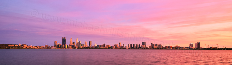 Perth and the Swan River at Sunrise, 29th January 2016