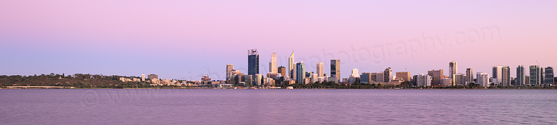 Perth and the Swan River at Sunrise, 3rd February 2016