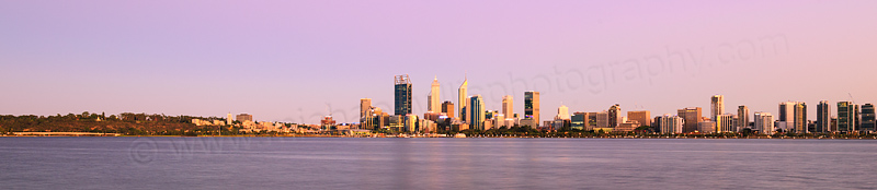 Perth and the Swan River at Sunrise, 4th February 2016