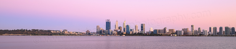 Perth and the Swan River at Sunrise, 12th February 2016