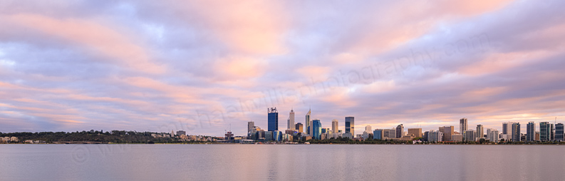 Perth and the Swan River at Sunrise, 13th February 2016