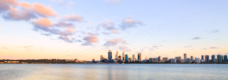 Perth and the Swan River at Sunrise, 19th February 2016