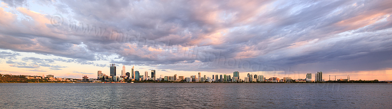 Perth and the Swan River at Sunrise, 20th February 2016