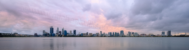 Perth and the Swan River at Sunrise, 22nd February 2016