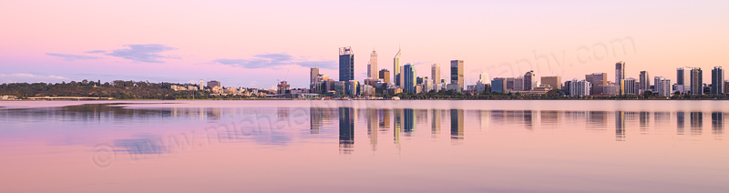 Perth and the Swan River at Sunrise, 23rd February 2016