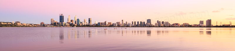 Perth and the Swan River at Sunrise, 24th February 2016