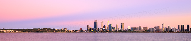 Perth and the Swan River at Sunrise, 25th February 2016