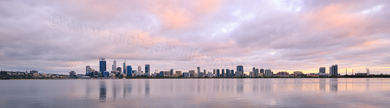 Perth and the Swan River at Sunrise, 29th February 2016