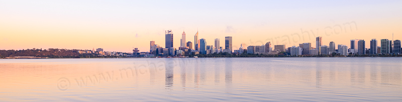Perth and the Swan River at Sunrise, 1st March 2016