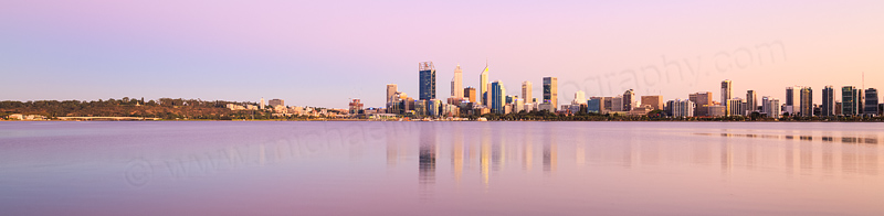 Perth and the Swan River at Sunrise, 2nd March 2016