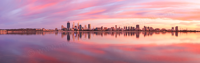 Perth and the Swan River at Sunrise, 3rd March 2016