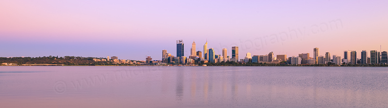 Perth and the Swan River at Sunrise, 4th March 2016