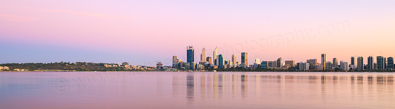 Perth and the Swan River at Sunrise, 9th March 2016