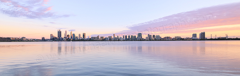 Perth and the Swan River at Sunrise, 11th March 2016