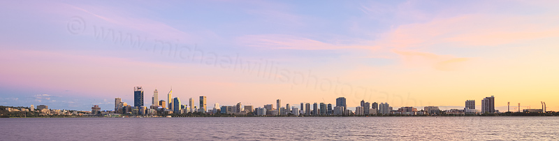 Perth and the Swan River at Sunrise, 14th March 2016