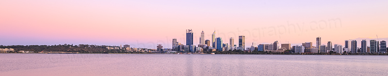 Perth and the Swan River at Sunrise, 17th March 2016