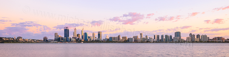 Perth and the Swan River at Sunrise, 18th March 2016