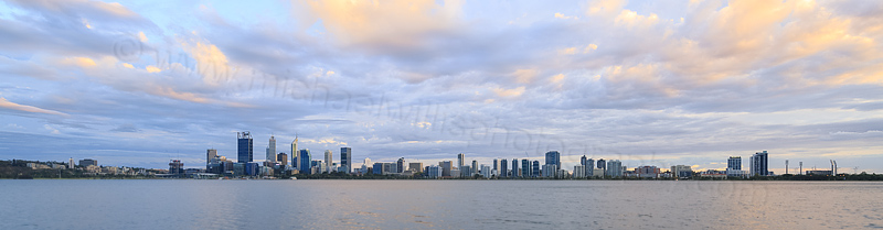 Perth and the Swan River at Sunrise, 19th March 2016