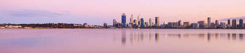 Perth and the Swan River at Sunrise, 20th March 2016