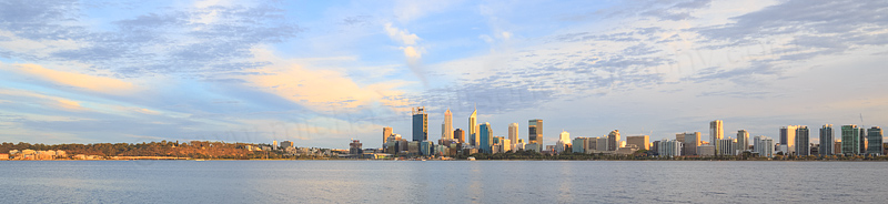 Perth and the Swan River at Sunrise, 21st March 2016
