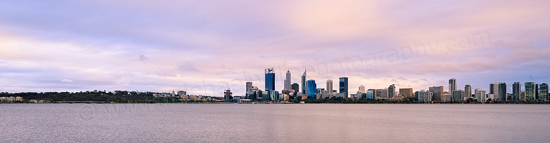 Perth and the Swan River at Sunrise, 27th March 2016