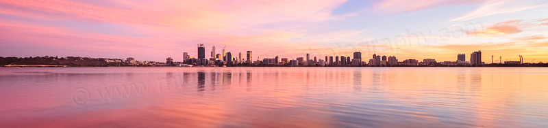Perth and the Swan River at Sunrise, 7th April 2016
