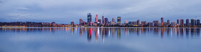 Perth and the Swan River at Sunrise, 9th April 2016