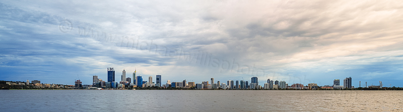 Perth and the Swan River at Sunrise, 11th April 2016