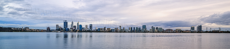 Perth and the Swan River at Sunrise, 12th April 2016