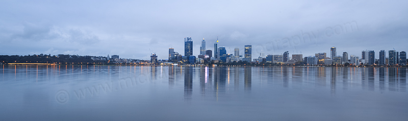 Perth and the Swan River at Sunrise, 13th April 2016
