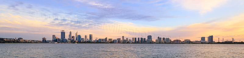 Perth and the Swan River at Sunrise, 16th April 2016