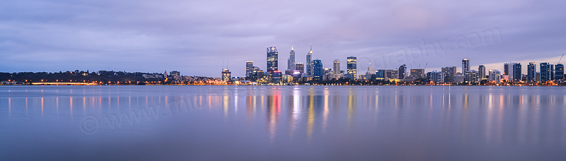 Perth and the Swan River at Sunrise, 17th April 2016