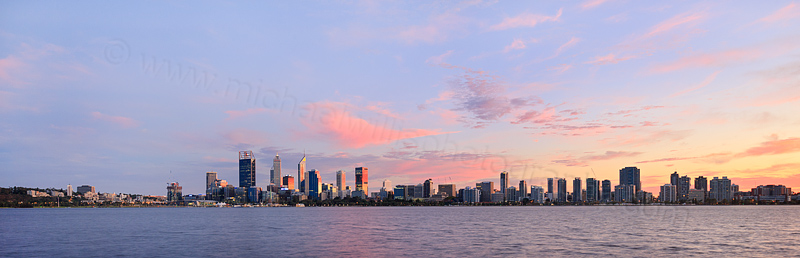 Perth and the Swan River at Sunrise, 23rd April 2016