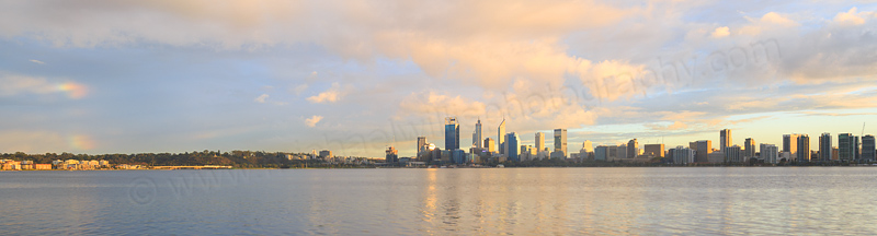 Perth and the Swan River at Sunrise, 27th April 2016