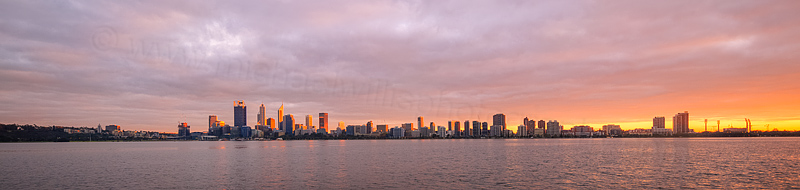 Perth and the Swan River at Sunrise, 4th May 2016