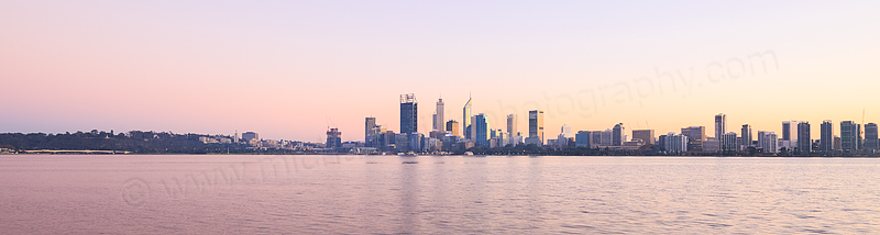 Perth and the Swan River at Sunrise, 10th May 2016